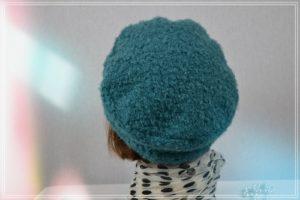 Casquette bleu canard en blouclette de polyester d'hiver
