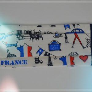 Masque tissu france Paris bleu blanc rouge