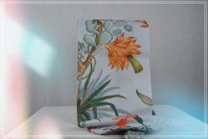Sac tapis yoga coton imprimé mer corail