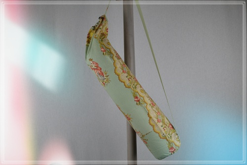 Sac tapis yoga coton imprimémandarin vert d eau
