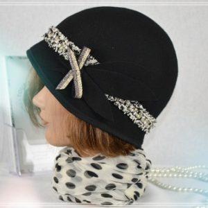 Chapeau Cloche noir AH2021