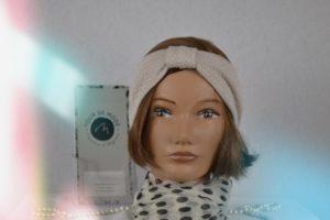 Bandeau – Headband en maille de Coton beige